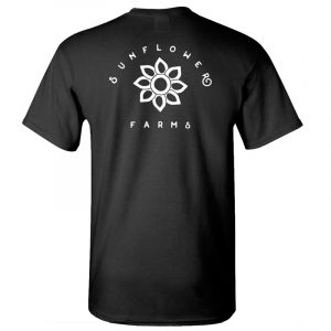 Sunflower Farms logo tee back - black