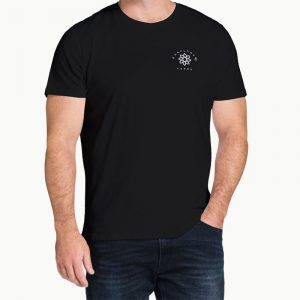 Sunflower Farms logo tee - black