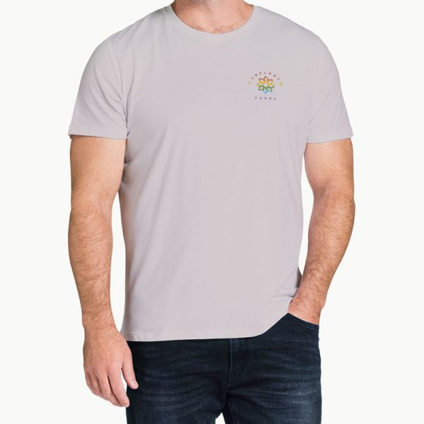 Sunflower Farms Pride Logo Tee - Ice Grey
