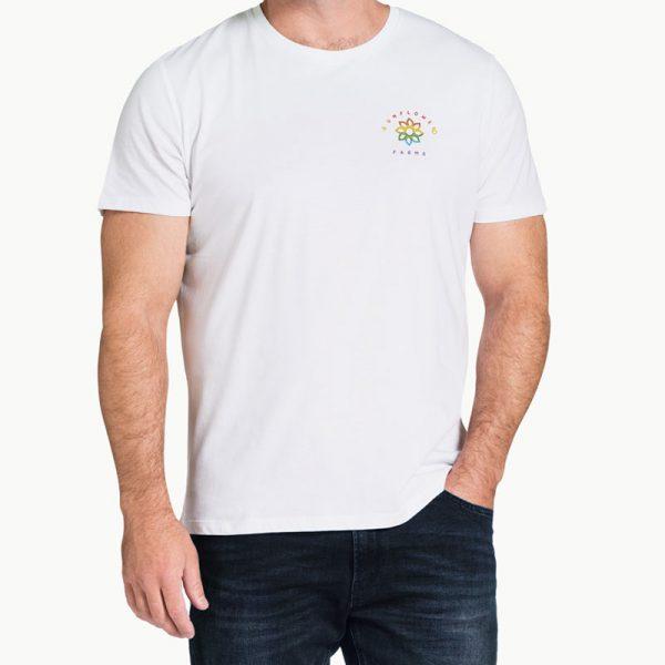 Sunflower Farms Pride Logo Tee - White